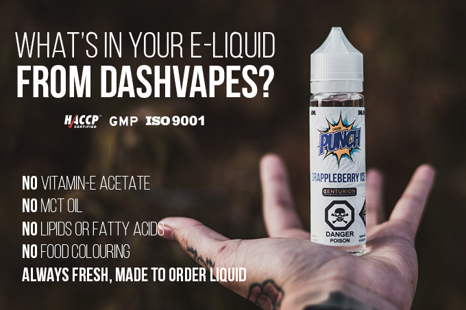 What's in your E-Liquid from DashVapes?